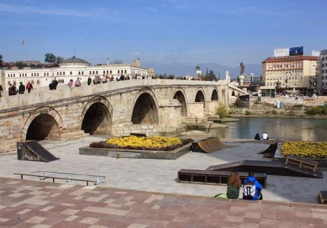 taş köprü üsküp makedonya