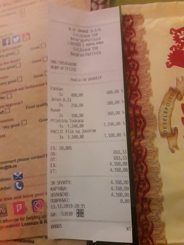 belgrad yeme icme fiyatları