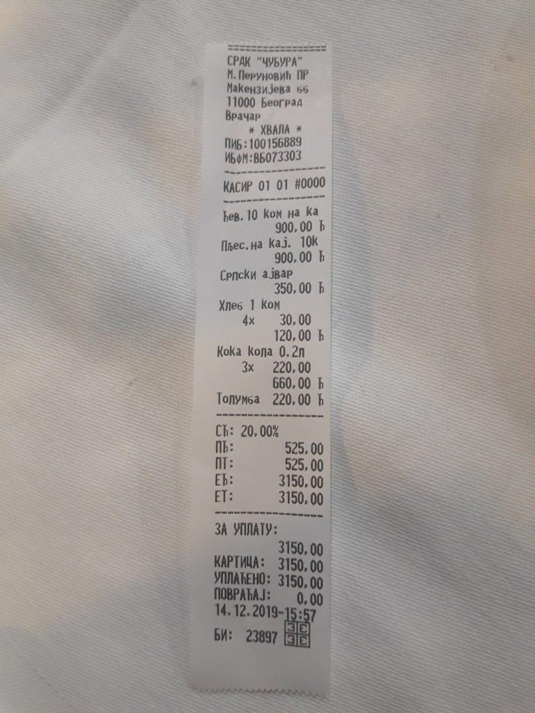 belgrad yemek fiyatları 2019